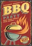 Disposición de diseño retra de la muestra del partido del Bbq libre illustration