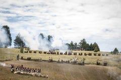 Disposición de ejércitos en el campo de batalla fotografía de archivo