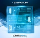 Disposición de Infographic con los proyectores sobre un fondo de alta tecnología ilustración del vector