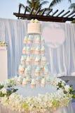 Disposición de la boda de playa Imágenes de archivo libres de regalías