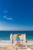Disposición de la boda, recepción nupcial al aire libre tropical, beauti Fotos de archivo libres de regalías