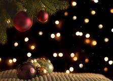 Disposición de la bola de la Navidad Fotografía de archivo