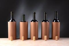 Disposición de la degustación de vinos Imágenes de archivo libres de regalías