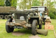 Disposición de la demostración de los vehículos de la guerra mundial 2 Imágenes de archivo libres de regalías
