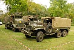Disposición de la demostración de los vehículos de la guerra mundial 2 Foto de archivo