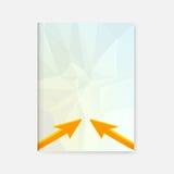 Disposición de la plantilla del arte moderno del negocio, página, cubierta Imagen de archivo