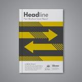 Disposición de la plantilla del diseño de negocio para el informe anual de la cubierta del folleto del aviador del folleto de la  Foto de archivo libre de regalías