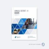 Disposición de la plantilla del folleto, informe anual del diseño de la cubierta, revista, fotografía de archivo