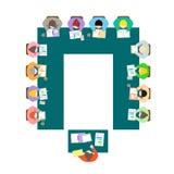 Disposición de la sala de reunión de la forma de U fotos de archivo libres de regalías