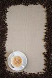 Disposición de la taza de café Fotos de archivo