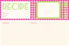 Disposición de tarjeta retra de la receta del vector Fotos de archivo libres de regalías