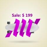 Disposición del anuncio para el longboard gris con precio Fotos de archivo libres de regalías
