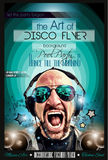 Disposición del aviador del club de noche del disco con forma de DJ stock de ilustración