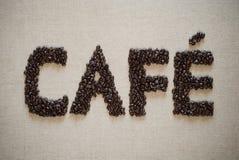 Disposición del café Imagen de archivo