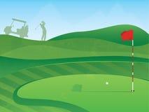 Verde del golf stock de ilustración