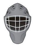 Disposición del casco del portero del hockey ilustración del vector