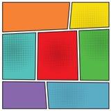 Disposición del espacio en blanco del popart de los tebeos Imagen de archivo