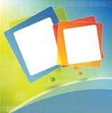 Disposición del folleto con las burbujas para el texto Imágenes de archivo libres de regalías