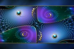 Disposición del fondo de la fantasía del fractal Imagen de archivo