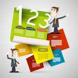 Disposición del papel de Infographic con los hombres de negocios stock de ilustración