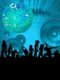Disposición del partido de danza stock de ilustración