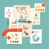 Disposición del vector del papel de Infographics ilustración del vector