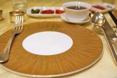 Disposición del vector del restaurante Imagenes de archivo