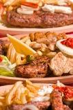 Disposición deliciosa de la comida Imagen de archivo
