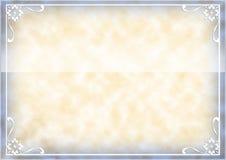 Disposición elegante del certificado Fotografía de archivo libre de regalías