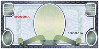 Disposición en blanco del billete de banco stock de ilustración