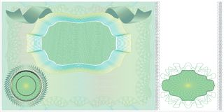 Disposición en blanco del billete de banco Foto de archivo libre de regalías