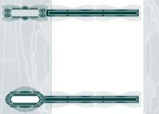 Disposición en blanco para el billete de banco o el vale Fotografía de archivo