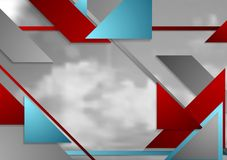 Disposición geométrica abstracta de la plantilla del folleto con el cielo gris Fotografía de archivo libre de regalías