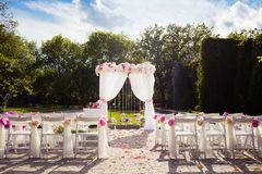 Disposición hermosa de la boda Imagenes de archivo