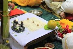 Disposición hindú de Pooja Fotografía de archivo libre de regalías