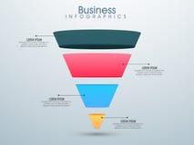 Disposición infographic del negocio Imágenes de archivo libres de regalías