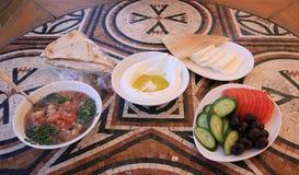 Disposición libanesa del desayuno Imagen de archivo libre de regalías