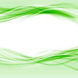 Disposición lisa verde del extracto de la frontera del eco de Swoosh Imagen de archivo libre de regalías