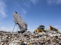 Disposición moderna de la basura Fotos de archivo