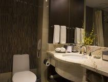 Disposición moderna del cuarto de baño imágenes de archivo libres de regalías