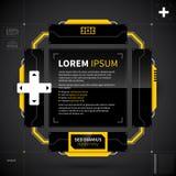 Disposición moderna del techno con formas futuristas Útil para el diseño web y la publicidad Imágenes de archivo libres de regalías