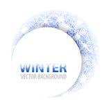 Disposición redonda del marco del hielo moderno del fondo del invierno Imagen de archivo
