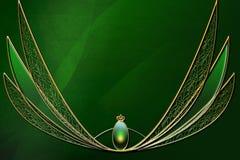 Disposición verde del fondo de la fantasía Fotografía de archivo