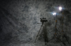 Disposición video de la producción imagen de archivo