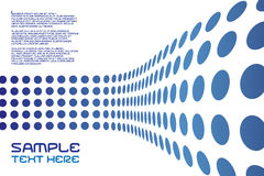 Disposición de la pared de los puntos Imagen de archivo libre de regalías