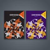 Disposición de la plantilla del folleto, diseño de la cubierta del informe anual, libro, revista Imagen de archivo