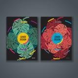 Disposición de la plantilla del folleto, diseño de la cubierta del informe anual, libro, revista Fotografía de archivo libre de regalías