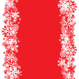 Disposición de los copos de nieve Fotos de archivo libres de regalías