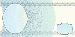 Disposición en blanco del billete de banco Fotografía de archivo