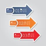Disposición moderna del elemento del infographics de la flecha Vector Imagen de archivo libre de regalías